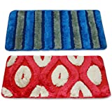 Story @ Home Set Of 2 Pcs Doormat Red and Blue