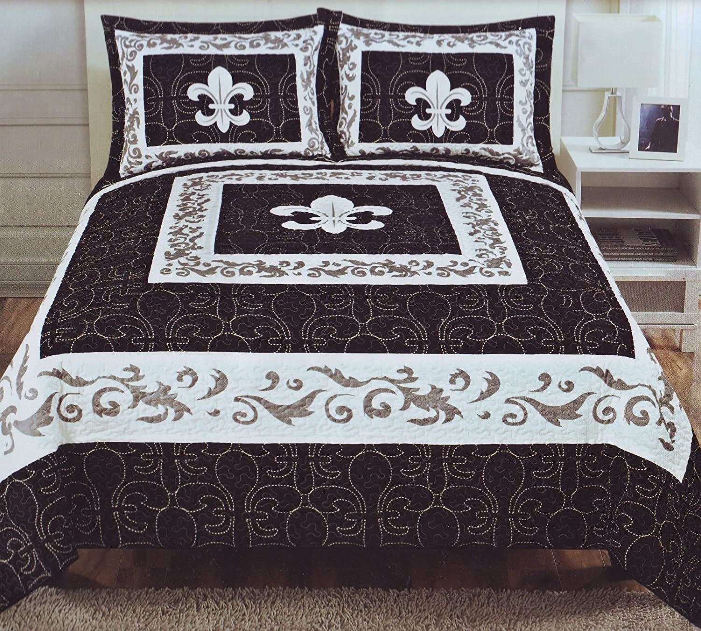 quilts lis and pattern queen quilt de comforter bedspread set fleur duvet bedspreads