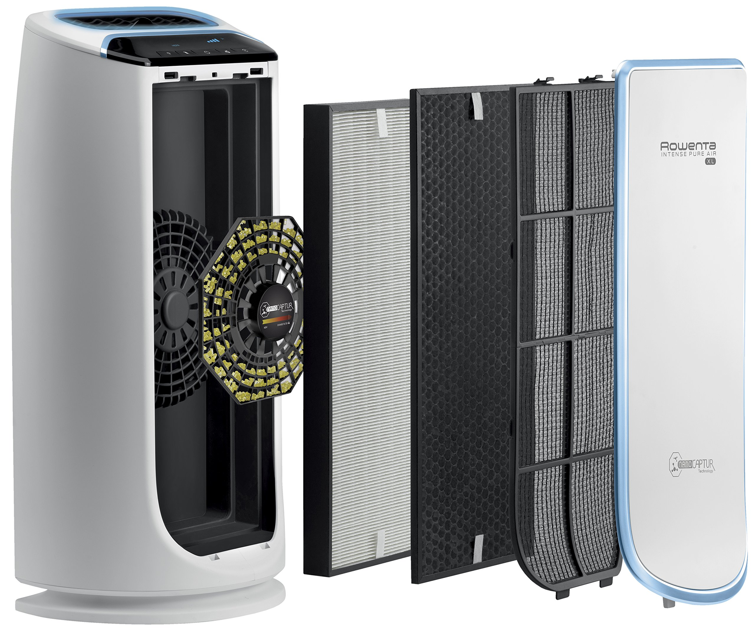 Rowenta PU6010 Intense Pure Air 800-Square Feet Air Purifier with 4-Filters Including HEPA Filter and Formaldehyde-Free Technology and Odor Eliminator, 29-Inch, White by Rowenta (Image #2)