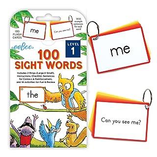 eeBoo 100 Sight Words Flash Cards (Level 1)