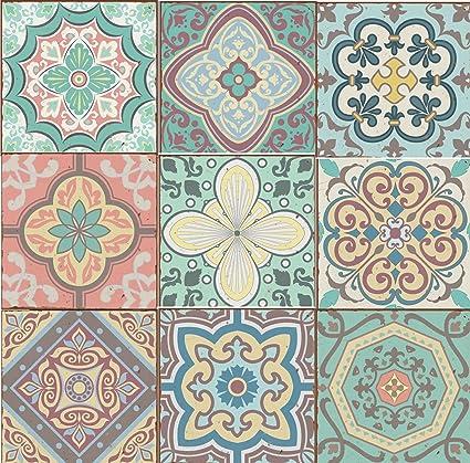 Uitgelezene 9 stuks gemengde pastel blauw groen geel roze Marokkaanse mozaïek HC-84