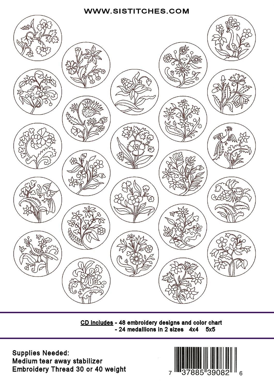 Medallion Line Art Embroidery Wiring Diagrams Ever Motion Sensor Circuit Diagram Nonstopfree Electronic Circuits Amazon Com Old English Rework Machine Designs Rh Clip First