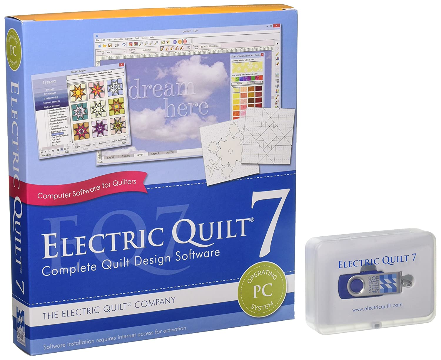 Amazon.com: Electric Quilt 7: Arts, Crafts & Sewing : quilt design tool - Adamdwight.com