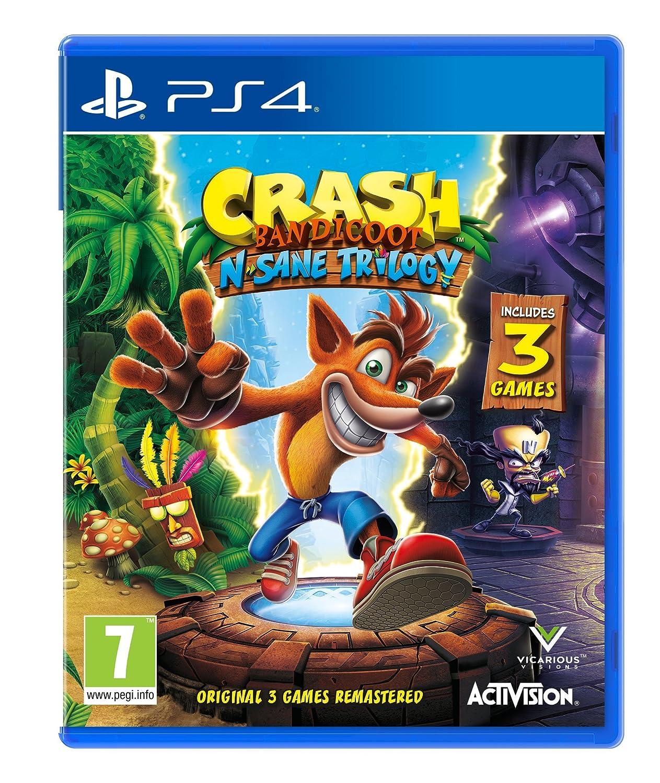 e58b9870df3837 Crash Bandicoot N. Sane Trilogy (PS4): Amazon.co.uk: PC & Video Games