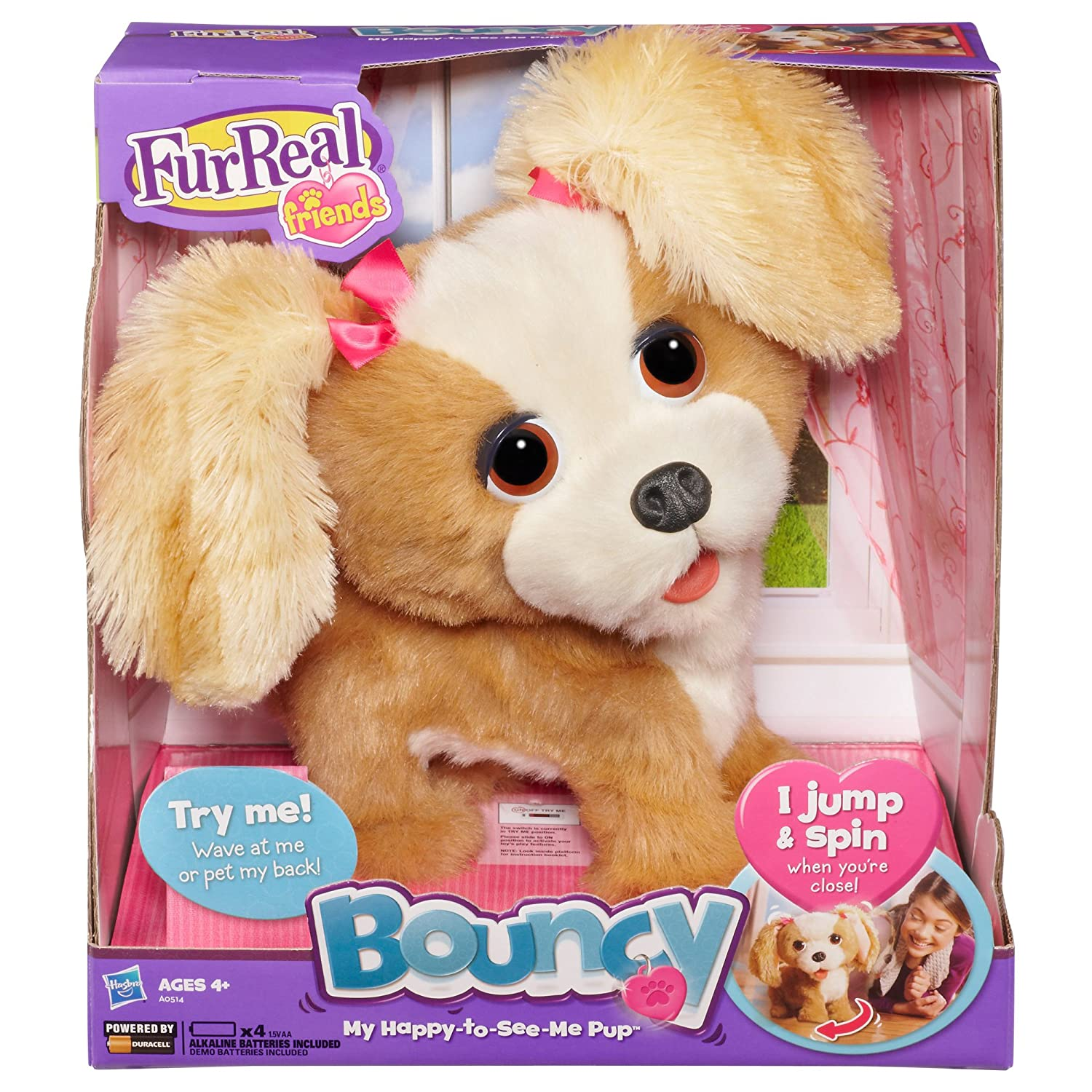 Amazon Furreal Friends Bouncy My Happy To See Me Pup Figure