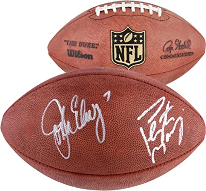 83d75885390 Peyton Manning & John Elway Denver Broncos Autographed Duke Pro Football -  Fanatics Authentic Certified