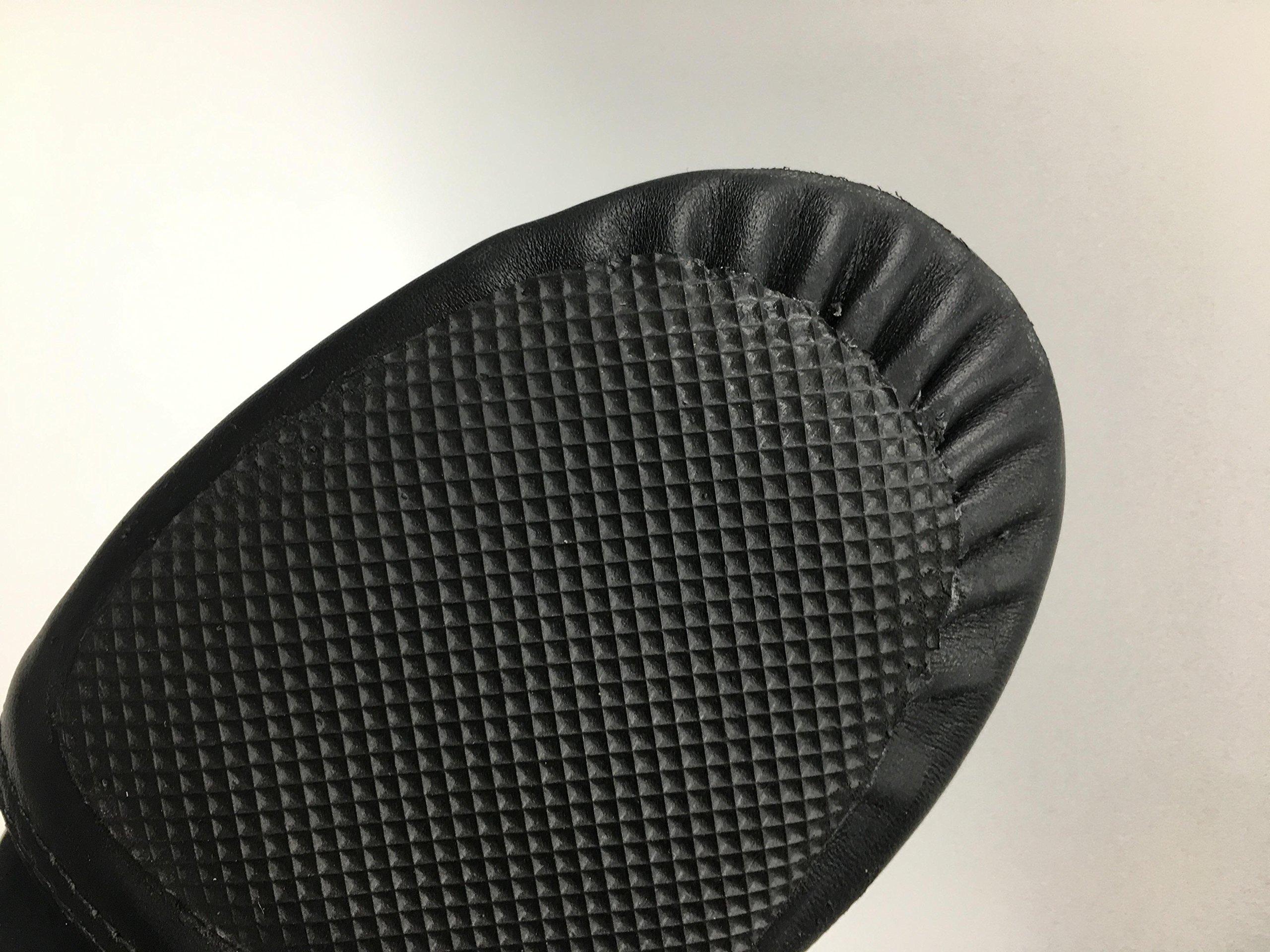 DANCE YOU DANCEYOU 1302 Neoprene Elastic Slip-On Leather Upper Jazz Shoes Black for Toddler/Little Kid/Women/Men 245mm