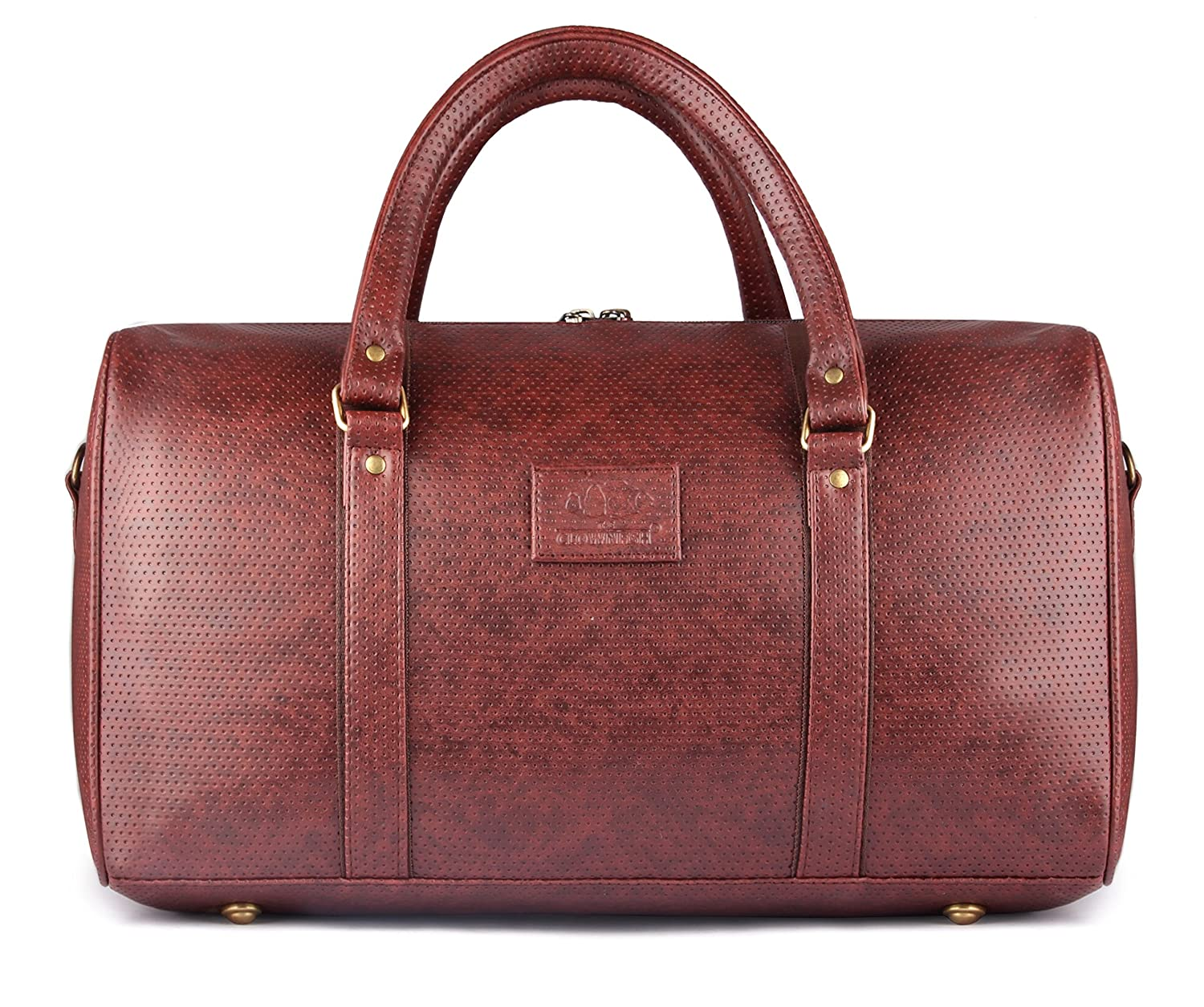 The Clownfish Faux Leather 32 Ltr Brown Soft Sided Travel Duffles