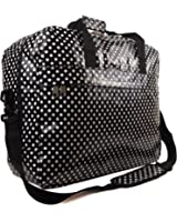 Womens Oilcloth Floral Polka Dot Maternity Hand Luggage Travel Holdall Cabin Bag