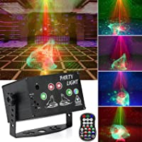 Apsung Luces de discoteca para fiestas, RGB Efecto Aurora Proyector Luz estroboscópica Luces activadas por sonido con…
