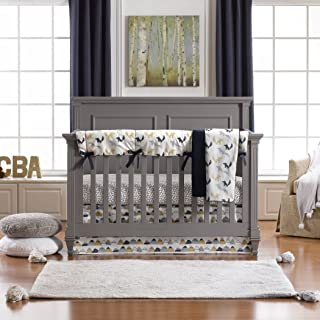 product image for Liz and Roo Fox Den Bumperless Crib Bedding 4-Piece Set, Indigo Multi