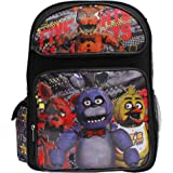 Five Nights At Freddys New Vibrant Black Large Boys School Backpack