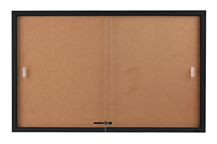 Amazoncom Displays2go 5 X 3 Feet Enclosed Sliding Door Cork
