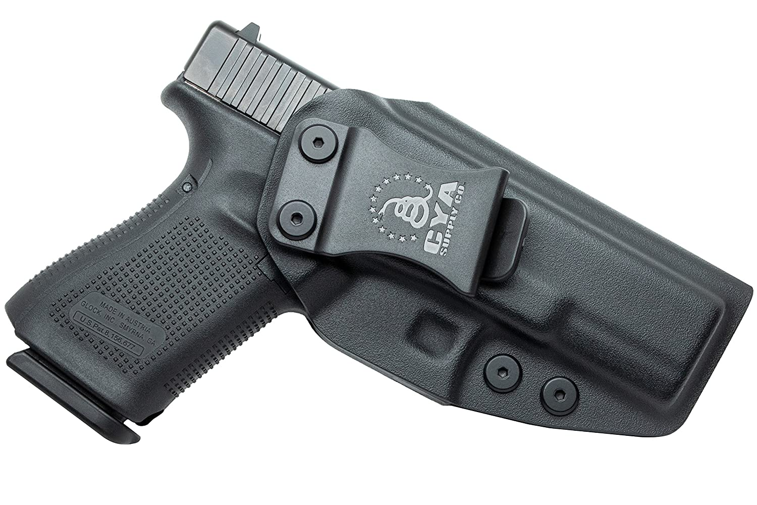 CYA Supply Co  IWB Holster Fits: Glock 19 / 19X / 23/32 / 45 - GEN 3-5 -  Veteran Owned Company - Made in USA - Inside Waistband Concealed Carry