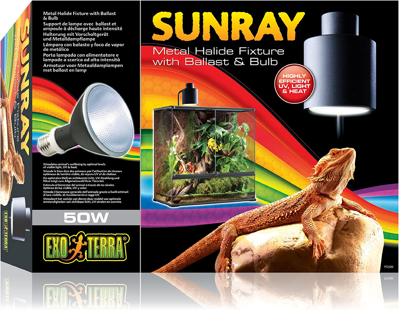 Amazon Com Exo Terra Sunray Light Fixture 35 Watt Pet Habitat