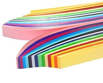 Quilling Papier 500mm X 10mm Set Mit 15 Farben Board Papierstreifen