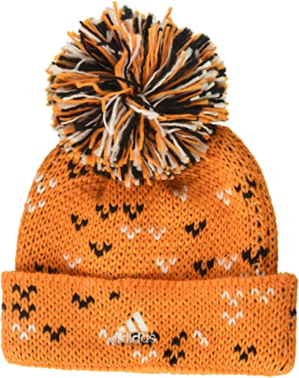 55695ce469f Image Unavailable. Image not available for. Color  adidas MLS Houston Dynamo  Women s Fan Wear Cuffed Pom Knit Beanie