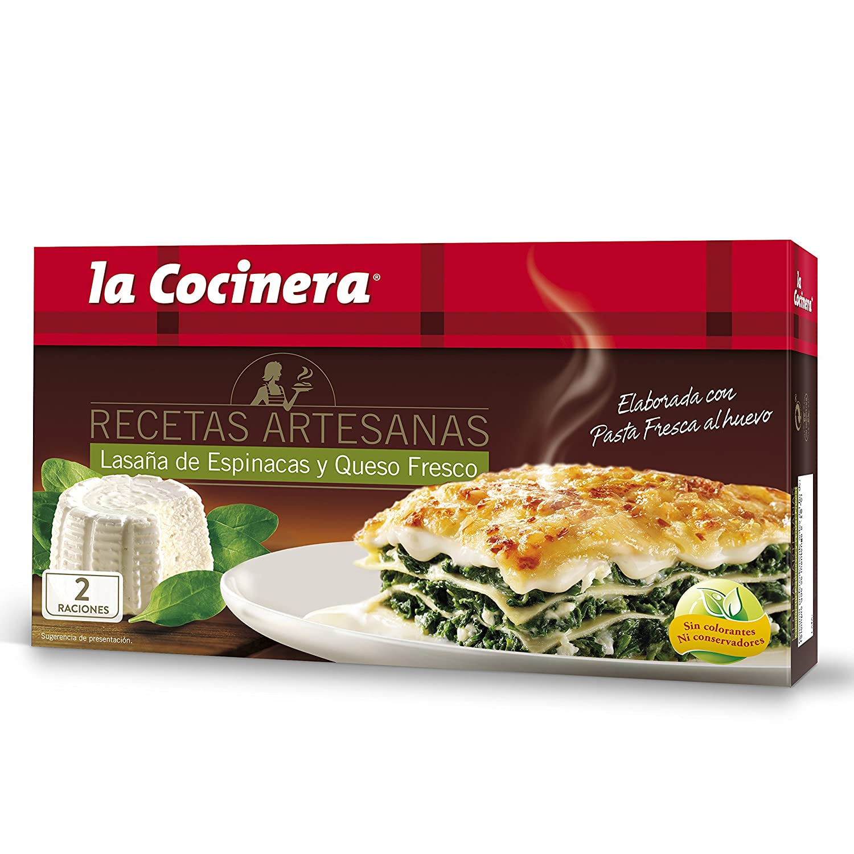 La Cocinera - Lasaña Espinacas Y Queso, 530 g: Amazon.es ...