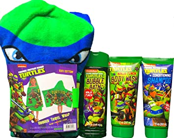 Teenage Mutant Ninja Turtles niños toalla de baño Set de regalo incluye Teenage Mutant Ninja Turtles