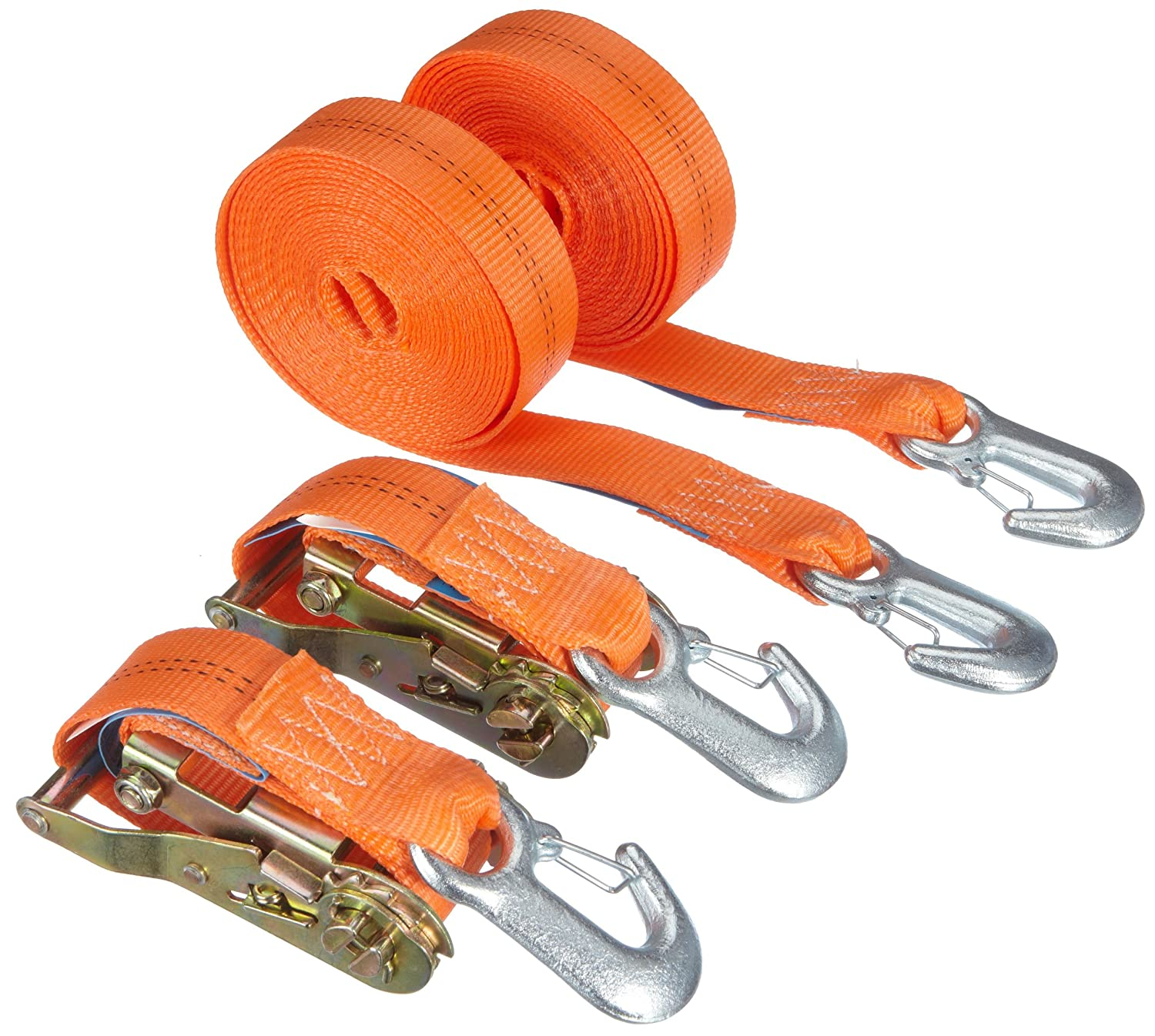 Braun 1000-2-600+3030/VE2 Sangle d'arrimage à cliquet et mousquetons 2000 daN, 6 m x 35 mm (Orange) 6 m x 35 mm (Orange) Braun GmbH