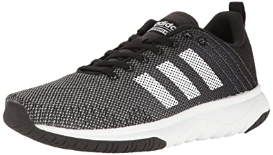 adidas Originals Men's Cloudfoam Super Flex Running Shoe, Black/White/Onix,  8