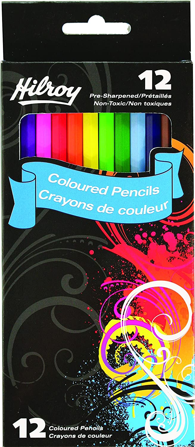 Hilroy Colored Pencils, Non-toxic, 3.0 Mm Lead, 24-count (41052)
