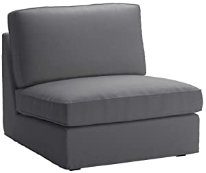 Cotton IKEA Kivik Chair 1 Seater Sofa Cover Replacement. Kivik Armchair Slipcover, Or One Seat Sofa Cover (Darker Gray)