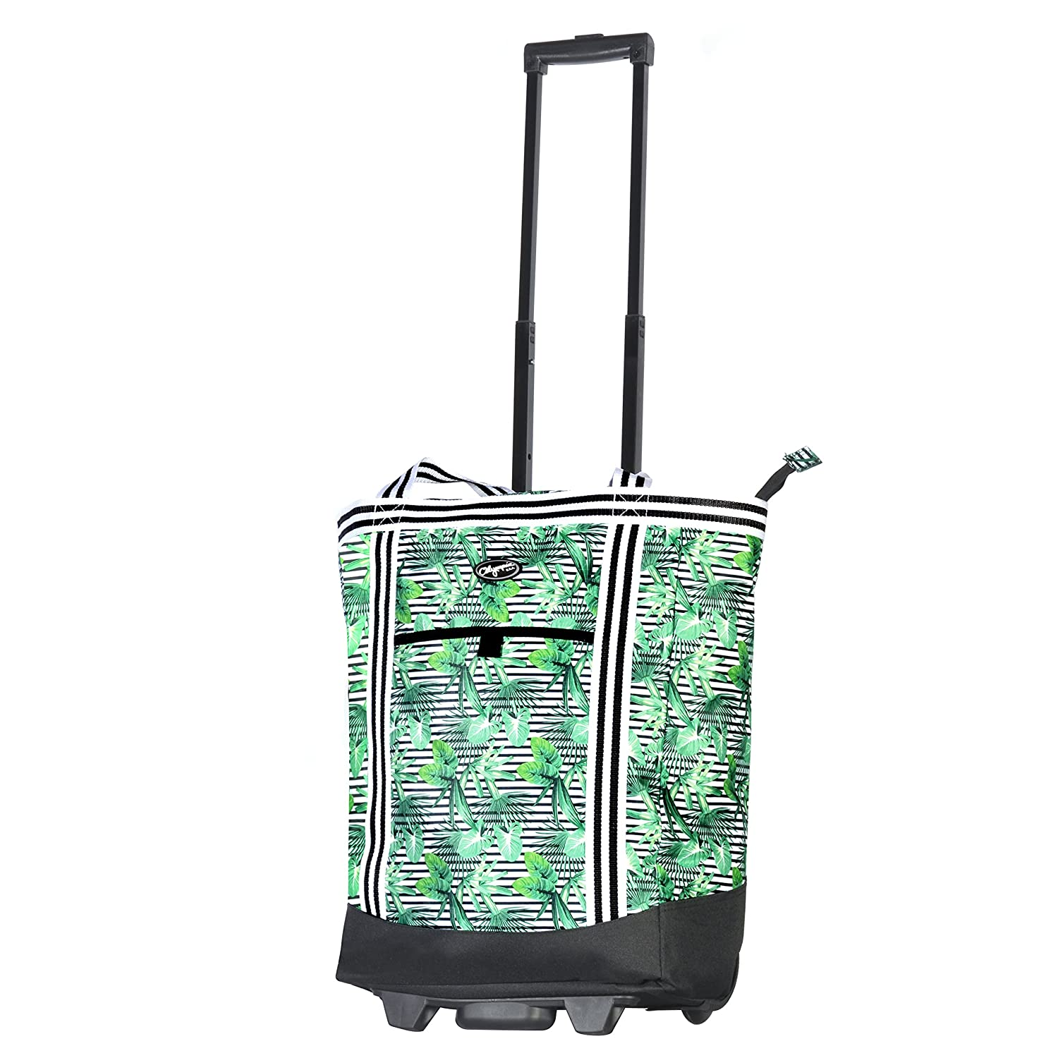 78d9a7a84 Amazon.com | Olympia 2-Piece Rolling Shopper Tote and Cooler Bag, Rain  Forest | Carry-Ons