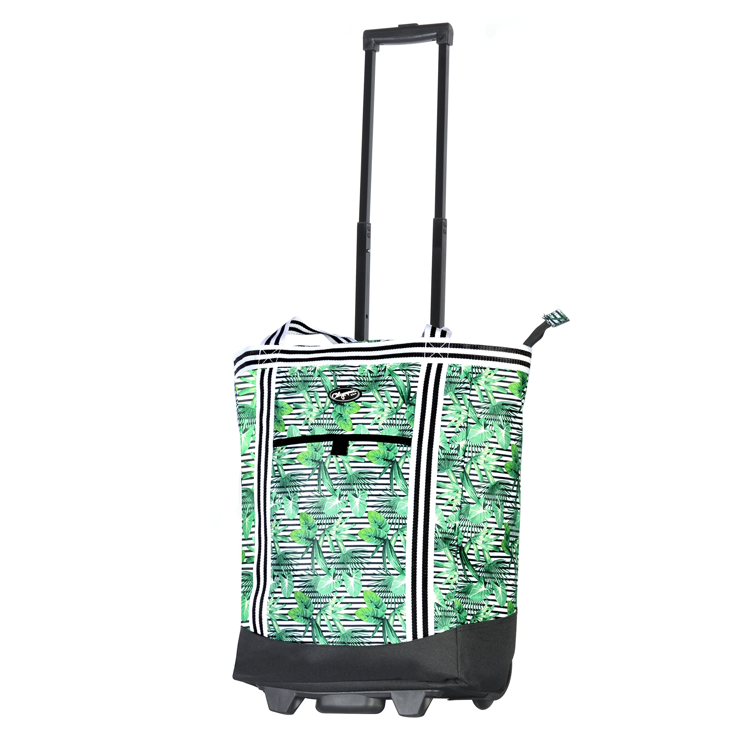 Olympia 2-Piece Rolling Shopper Tote and Cooler Bag, Rain Forest by Olympia (Image #3)