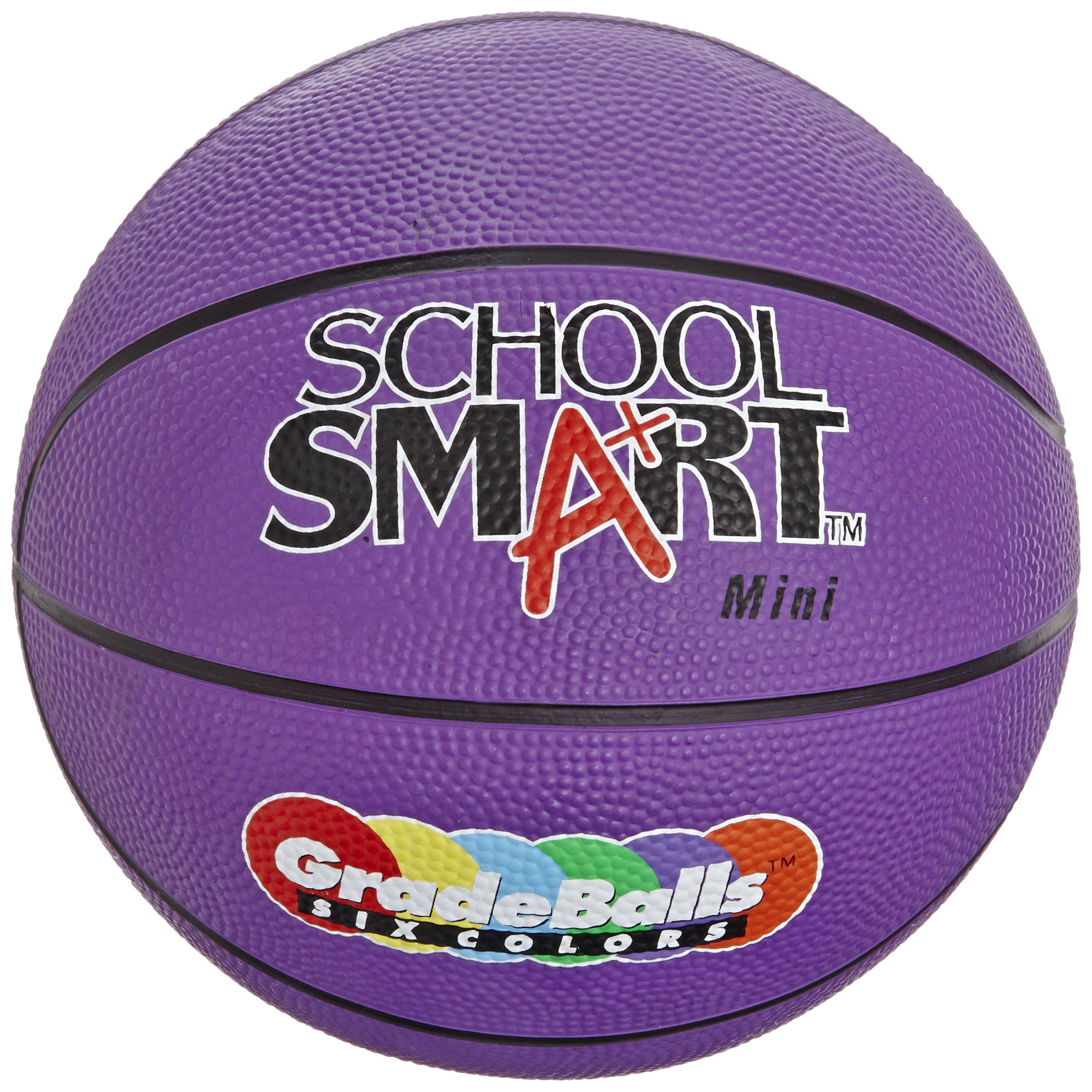 School Smart Gradeballs Rubber Basketball - Mini 11 inch - Violet