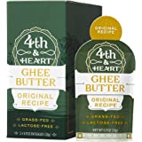 Original Grass-Fed Ghee Butter by 4th & Heart, On-the-Go Single Serving 5-Count, Pasture Raised, Non-GMO, Lactose Free, Certified Paleo