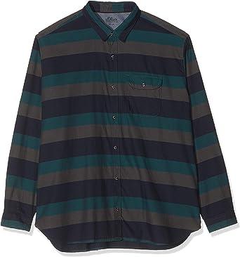 S.Oliver Big Size 15.909.21.3439 Camisa, Azul (Fresh Ink 59g1 ...