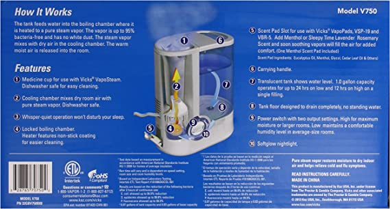 Vicks Warm Mist Humidifier V750 How to Clean