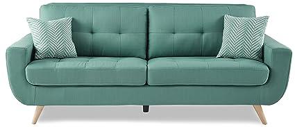 Homelegance 8327TL 3 Tufted Back Sofa, Teal