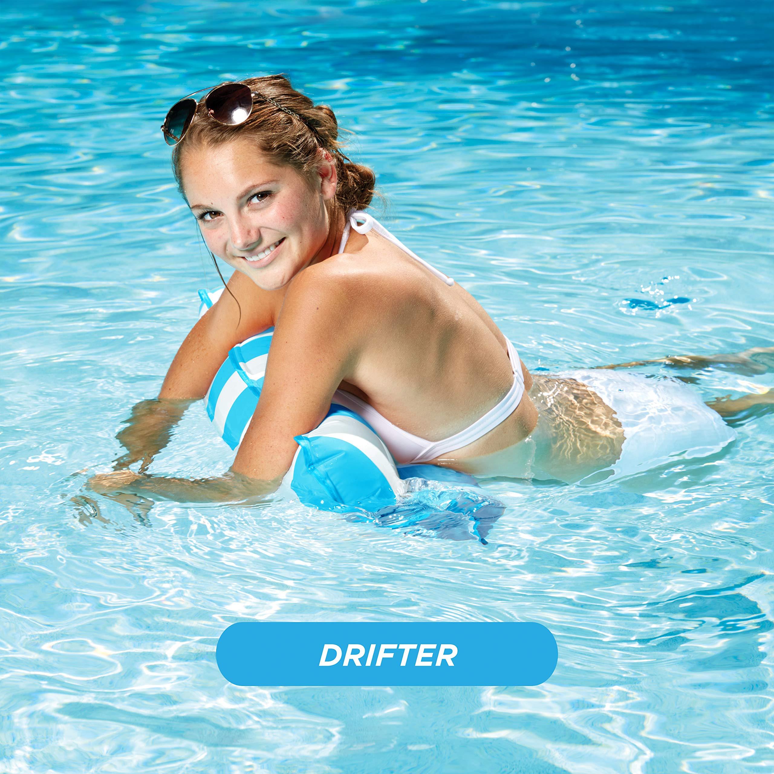 Aqua Monterey 4-in-1 Multi-Purpose Inflatable Hammock (Saddle, Lounge Chair, Hammock, Drifter) Portable Pool Float, Light Blue by Aqua (Image #3)