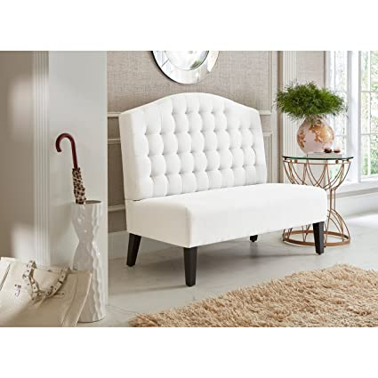 Wondrous Amazon Com Sofaweb Com Ivory Tufted Upholstered Banquette Onthecornerstone Fun Painted Chair Ideas Images Onthecornerstoneorg