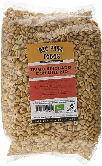 Bio para todos Trigo Inflado con Miel Bio - 10 Paquetes de 200 gr - Total