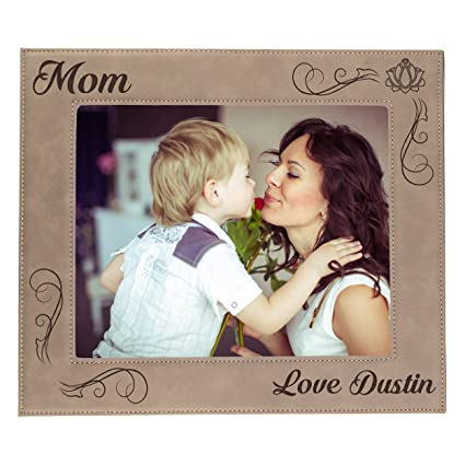 57ba65f261 Amazon.com - Custom Engraved Picture Photo Frame for Mom - Mothers ...