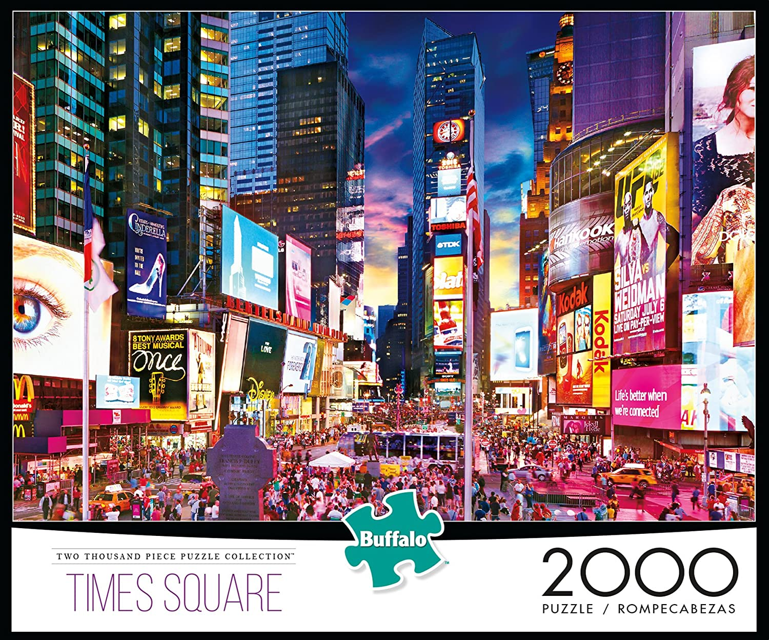 9f0e9b2a4eede Amazon.com  Buffalo Games - Times Square - 2000 Piece Jigsaw Puzzle  Toys    Games