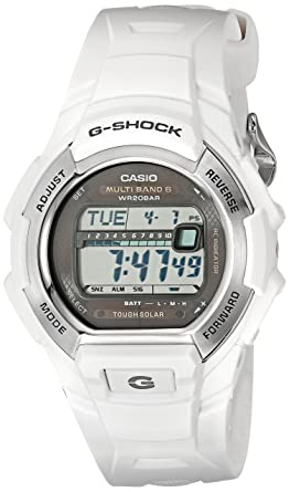1701ebcf29e7 Image Unavailable. Image not available for. Color  Casio Men s G-Shock  GWM850-7CR Tough Solar Atomic White Resin Sport Watch