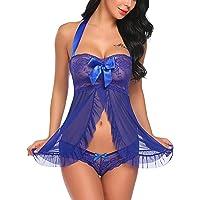 e3e09102f8c Avidlove Women Nightwear Lace Babydoll Strap Chemise Halter Lingerie
