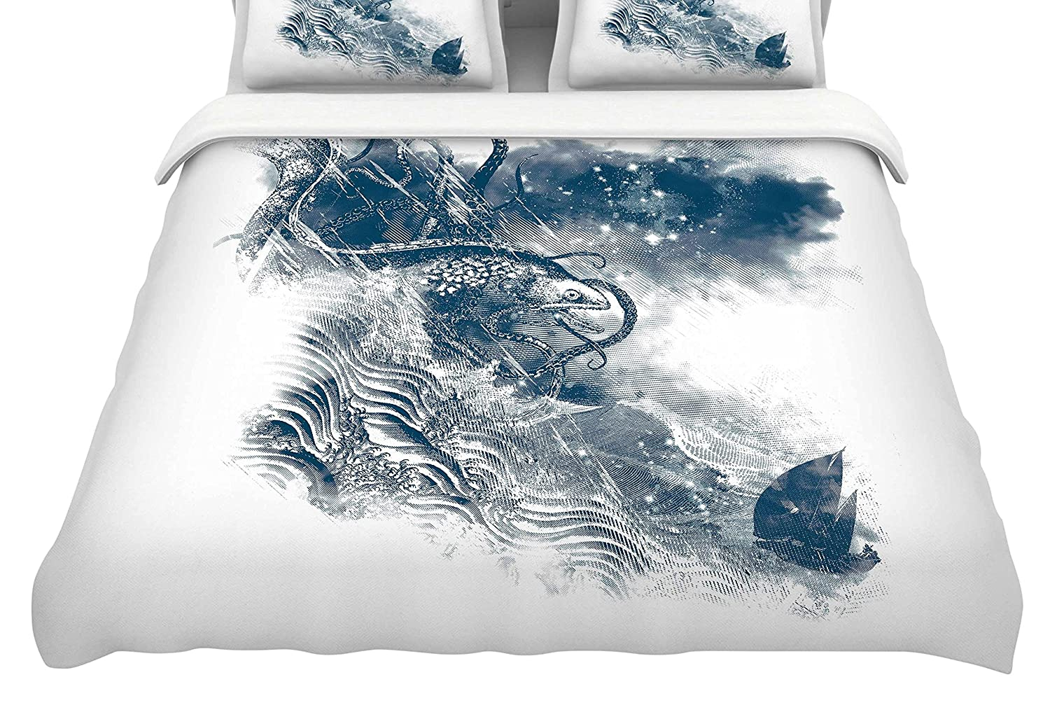 88 x 88, Kess InHouse Frederic Levy-Hadida No Escape Featherweight Queen Duvet Cover