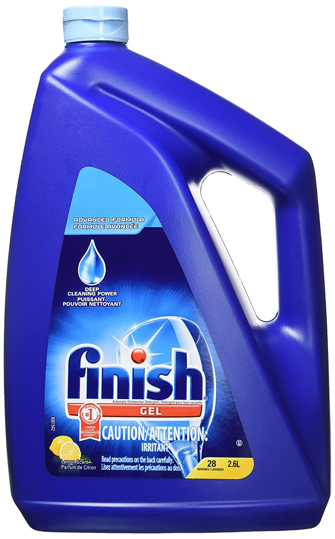 Finish Gel Dishwasher Detergent, 2 in 1, Green Apple, 1.6L