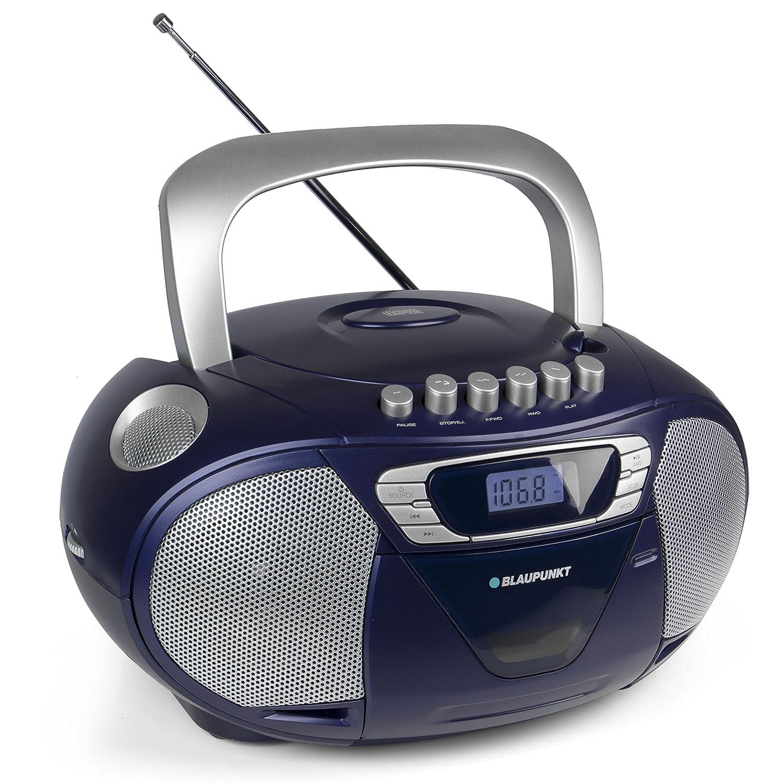 Blaupunkt B 11 PLL Radio port/átil para ni/ños Reproductor de CD con Casete y pletina de Casete Negro
