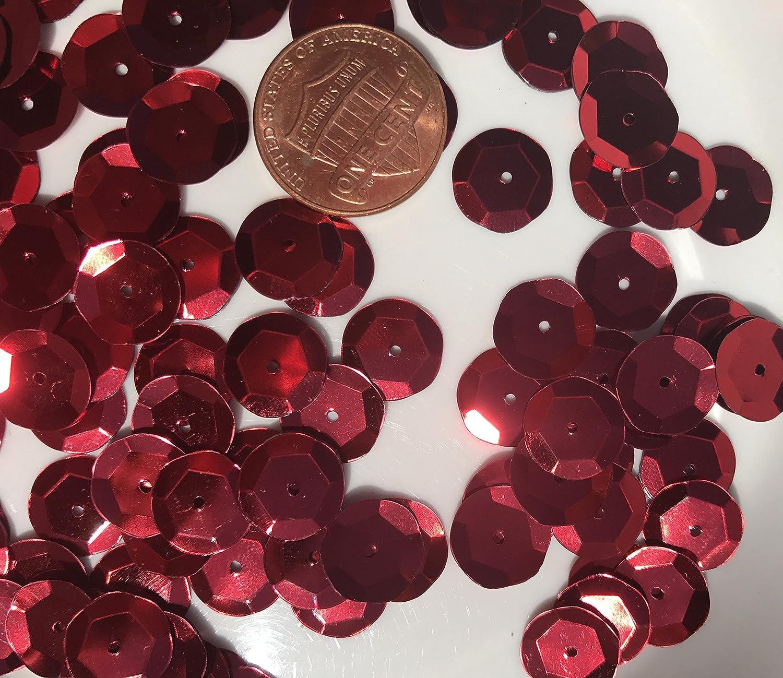 Sequins 10mm 1000//Pkg Red