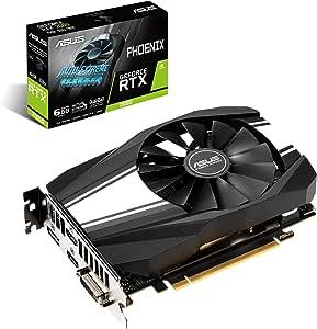 ASUS GeForce RTX 2060 6GB Phoenix Fan Edition VR Ready HDMI DP DVI Graphics Card (Ph-RTX2060-6G)