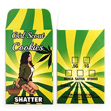 25 Girl Scout Cookie Premium Shatter Labels Concentrate Packaging