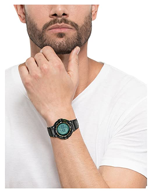 man wearing twin sensor watch