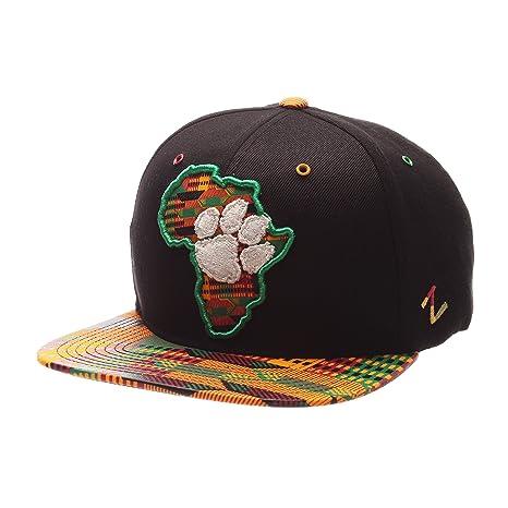 7a72dd92f06 Amazon.com   ZHATS Clemson Tigers Congo African Style Snapback Cap ...