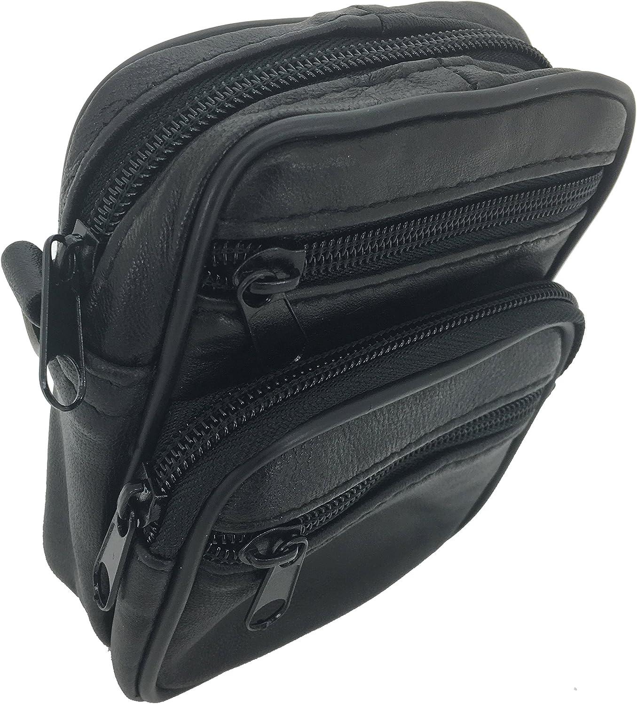 TASSINI TRENDS Lambskin Satchel Single Shoulder Crossbody Bag with Multi Pockets